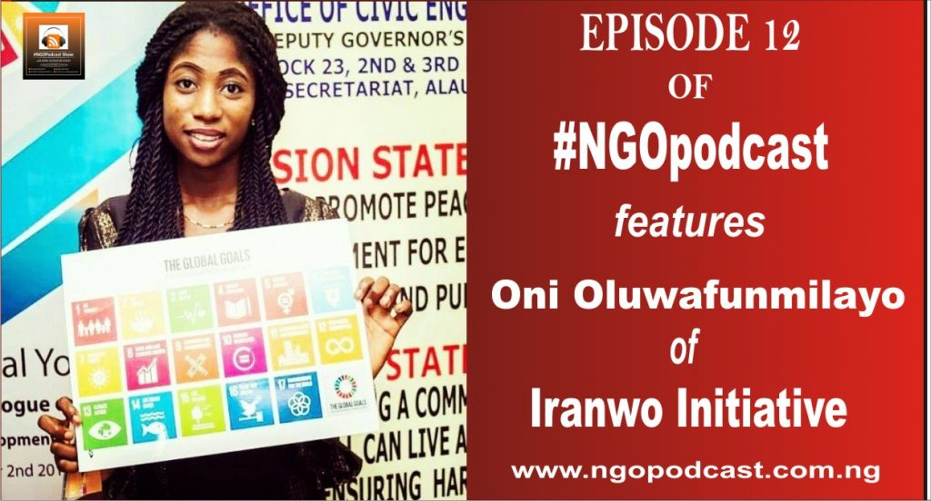 NGOP0012-INTERVIEW WITH ONI OLUWAFUNMILAYO (IRANWO INITIATIVE)